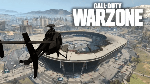hélicoptère Warzone stade Infinity Ward