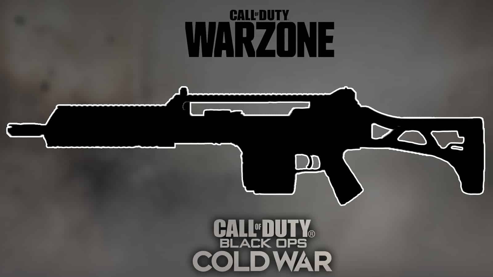 Silhouette MG36 Logo Warzone Et Cold War